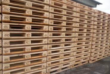 1200×800 EPAL padėklas su medinėmis kaladėlėmis